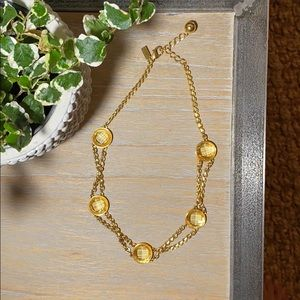 Kate Spade New York Gold Necklace with Jewels